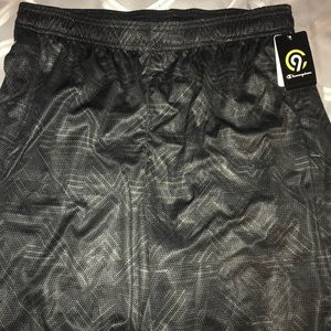 New w tags Champion black and silver gym shorts